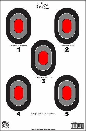 "23"" x 35"" - 5 Bullseye with Red Centers - 5 Pack"