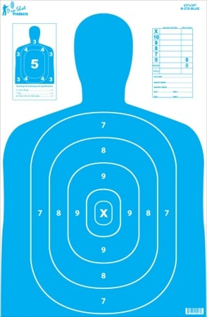 "23"" x 35"" B27 Silhouette Target- Blue - 5 Pack"