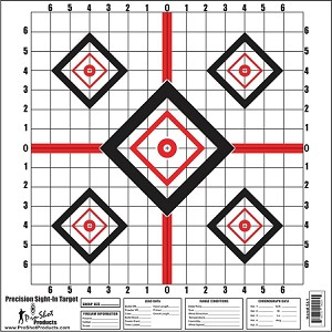 "16 x 16"" Red Diamond Precision Sight In Target 10 Pack"