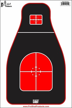 "12"" x 18"" - Tactical Precision Target- Red/Black Heavy Tag Paper - 8 Pack"