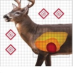 "25"" x 25"" Whitetail Deer Sight In Target - 5 Qty. Pack"