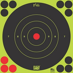 "Splatter Shot® 17.25"" Green Bull's-eye Target - 5 Qty. Pack"