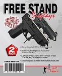 Free-Stand Pistol Display - 2 Pack