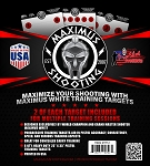 Maximus White Pistol Training Target Set- 6PK